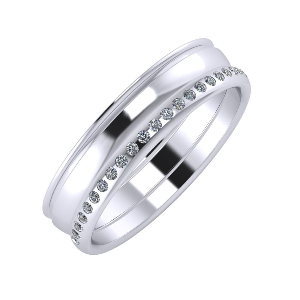 Agrippína - Ágosta - Aldea 5mm platina karikagyűrű