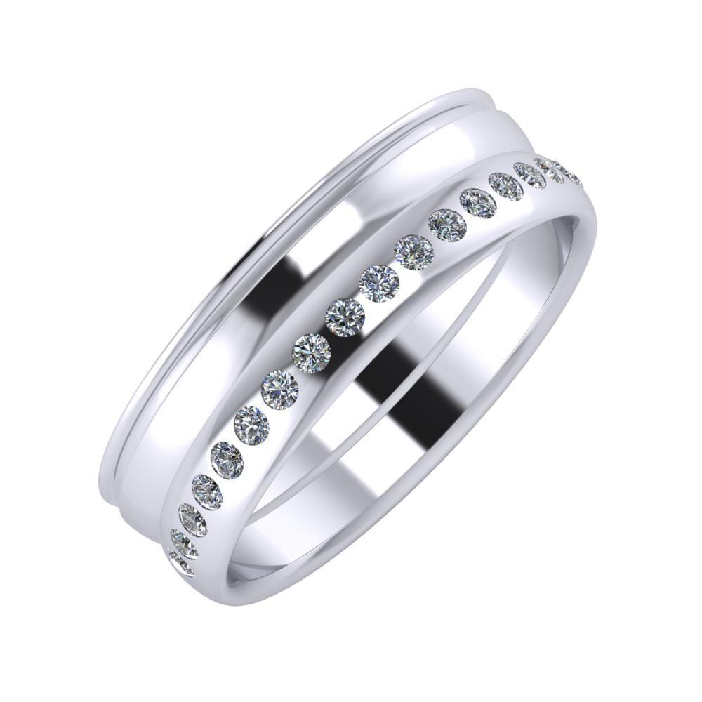 Agrippína - Ágosta - Aldea 6mm platina karikagyűrű