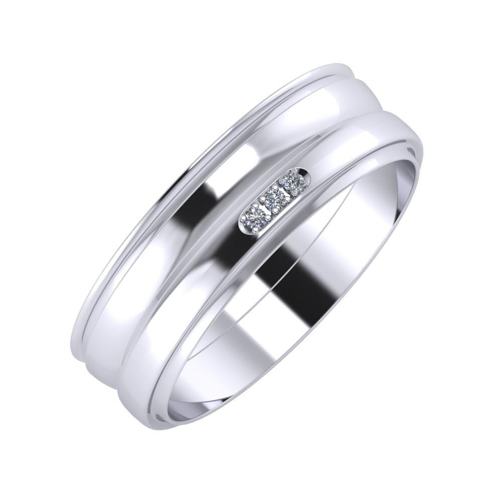 Agrippína - Ágosta - Aleszja 6mm platina karikagyűrű