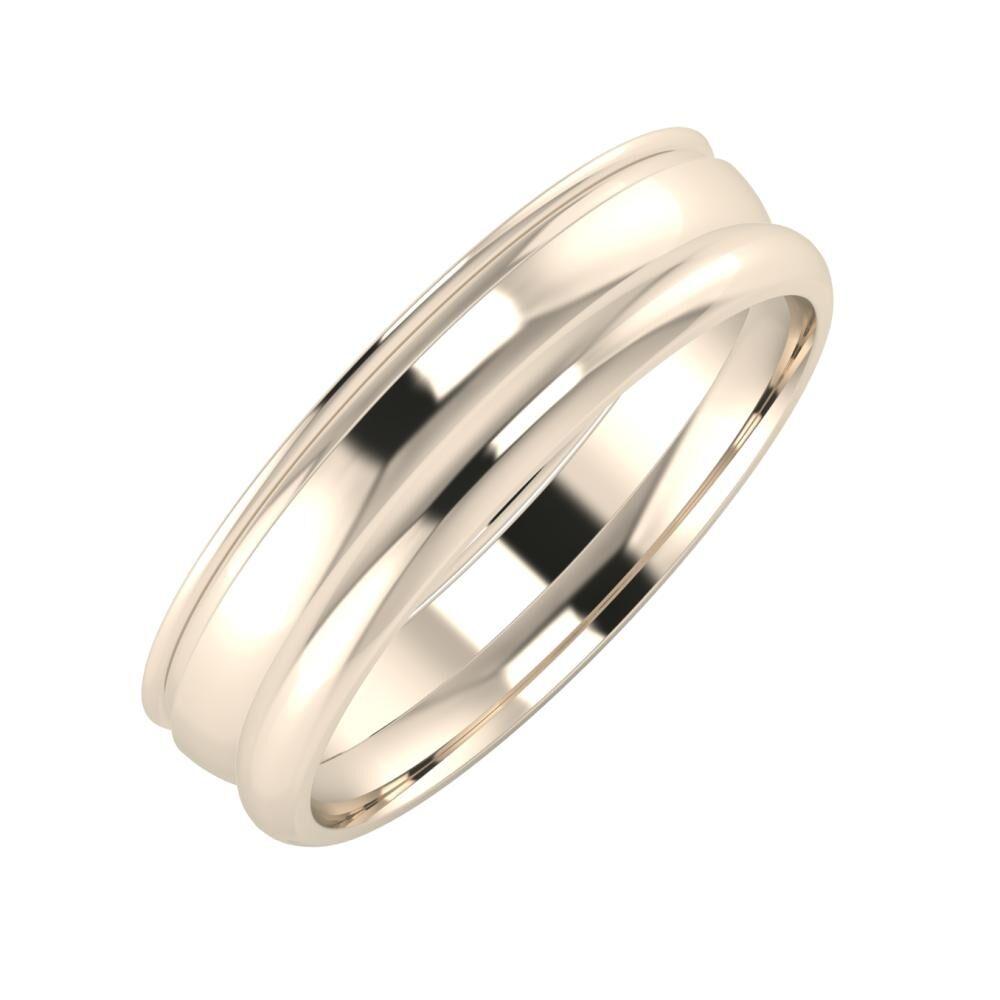 Agrippína - Ágosta - Alett 5mm 22 karátos rosé arany karikagyűrű