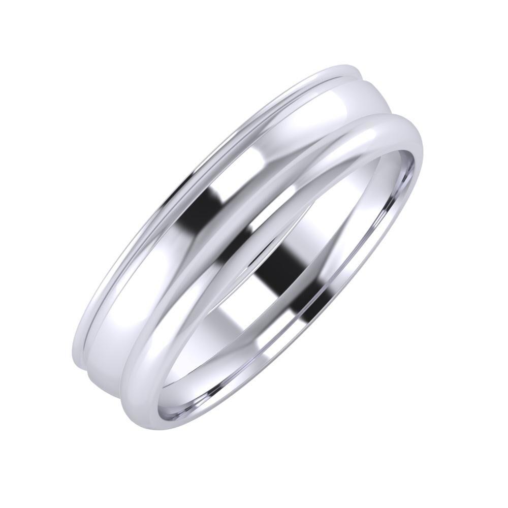 Agrippína - Ágosta - Alett 5mm platina karikagyűrű