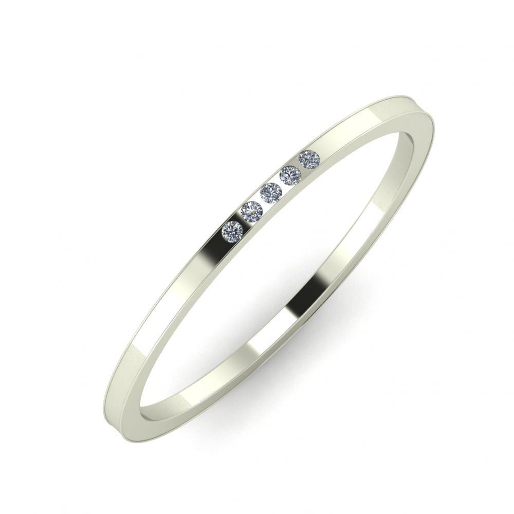 Agrippína - Agrippína - Adelaida 3mm 14 karátos fehér arany karikagyűrű