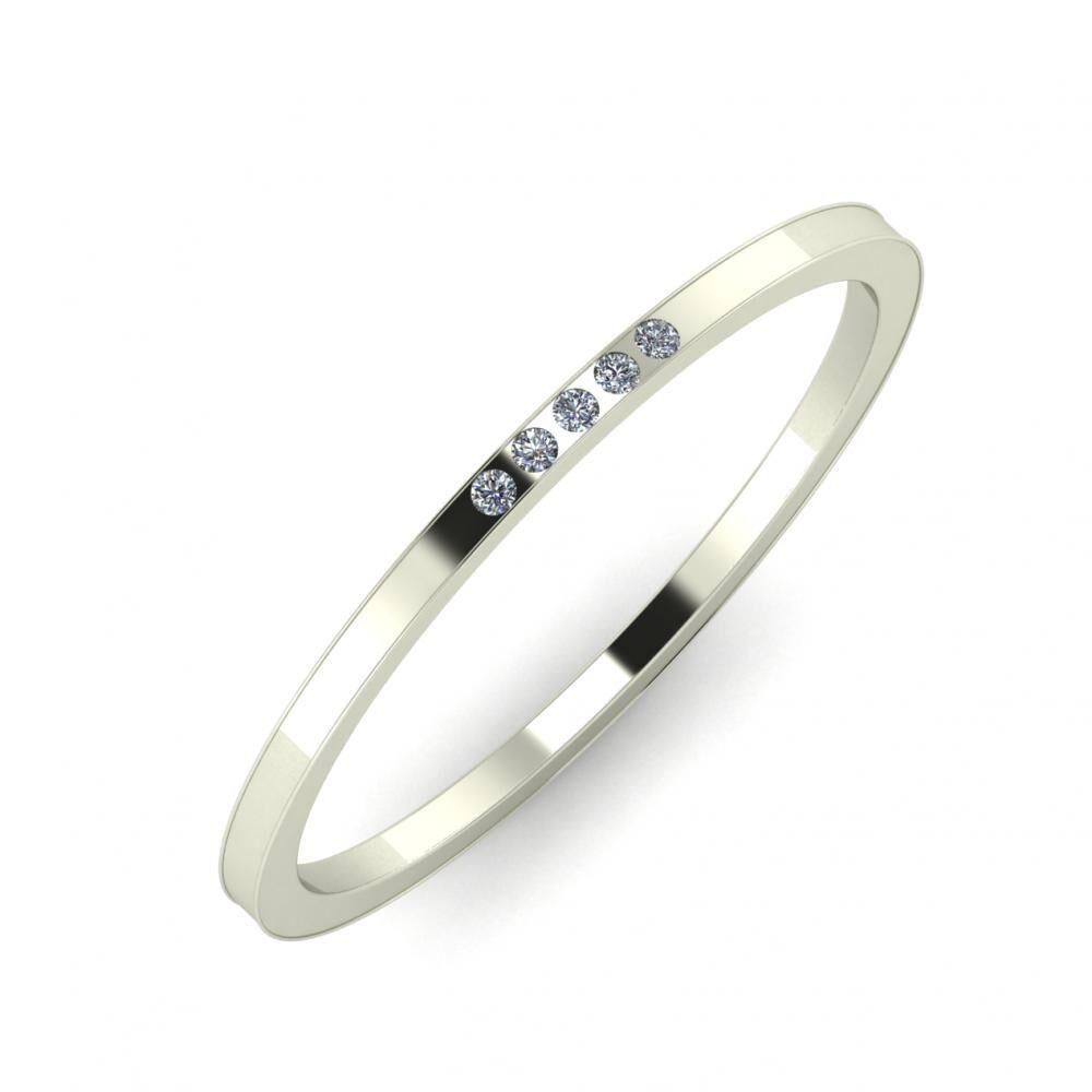 Agrippína - Agrippína - Adelaida 3mm 18 karátos fehér arany karikagyűrű