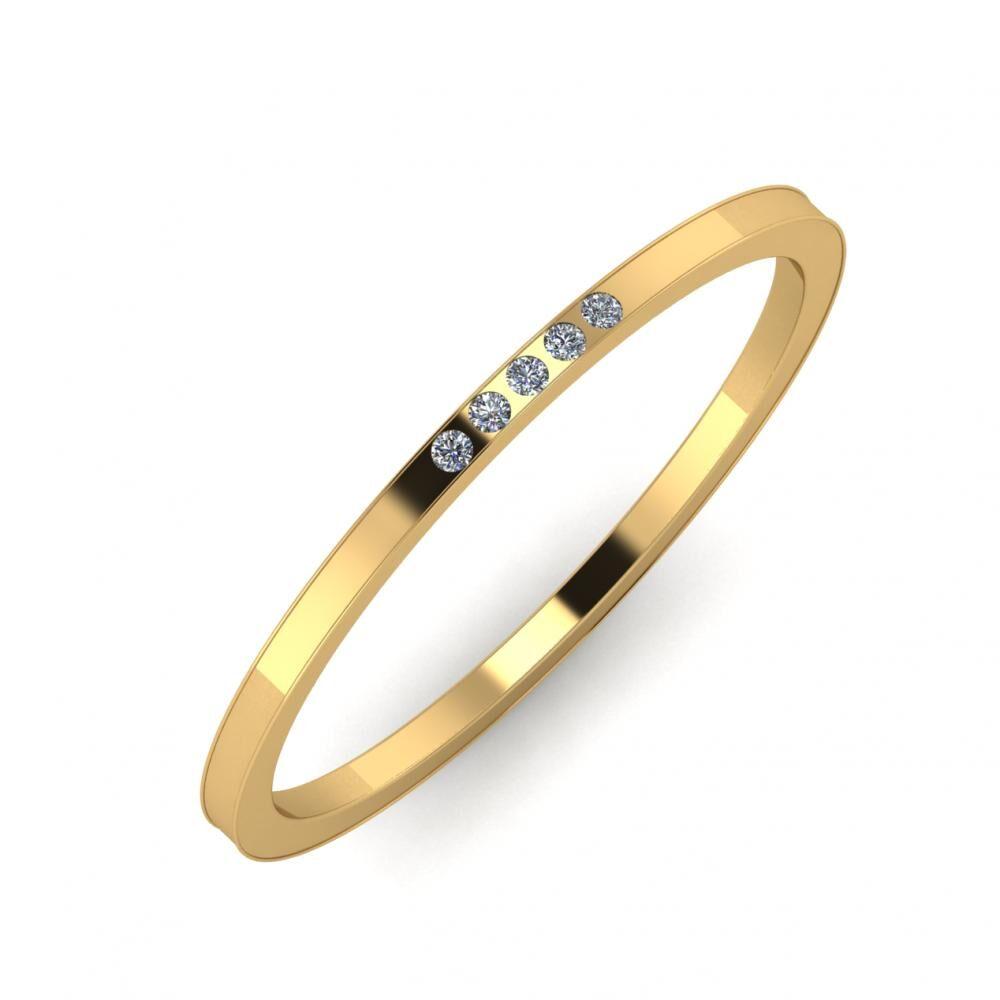 Agrippína - Agrippína - Adelaida 3mm 18 karátos sárga arany karikagyűrű