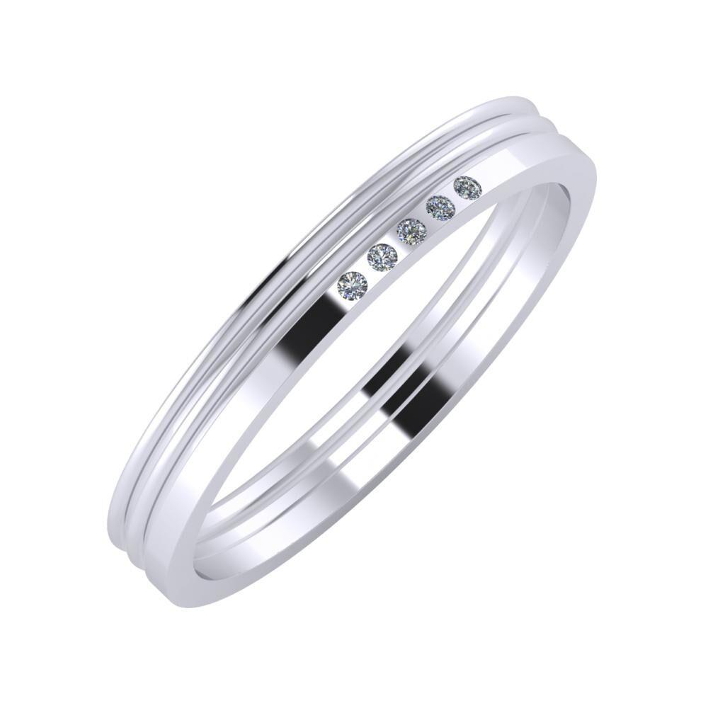 Agrippína - Agrippína - Adelgunda 3mm platina karikagyűrű