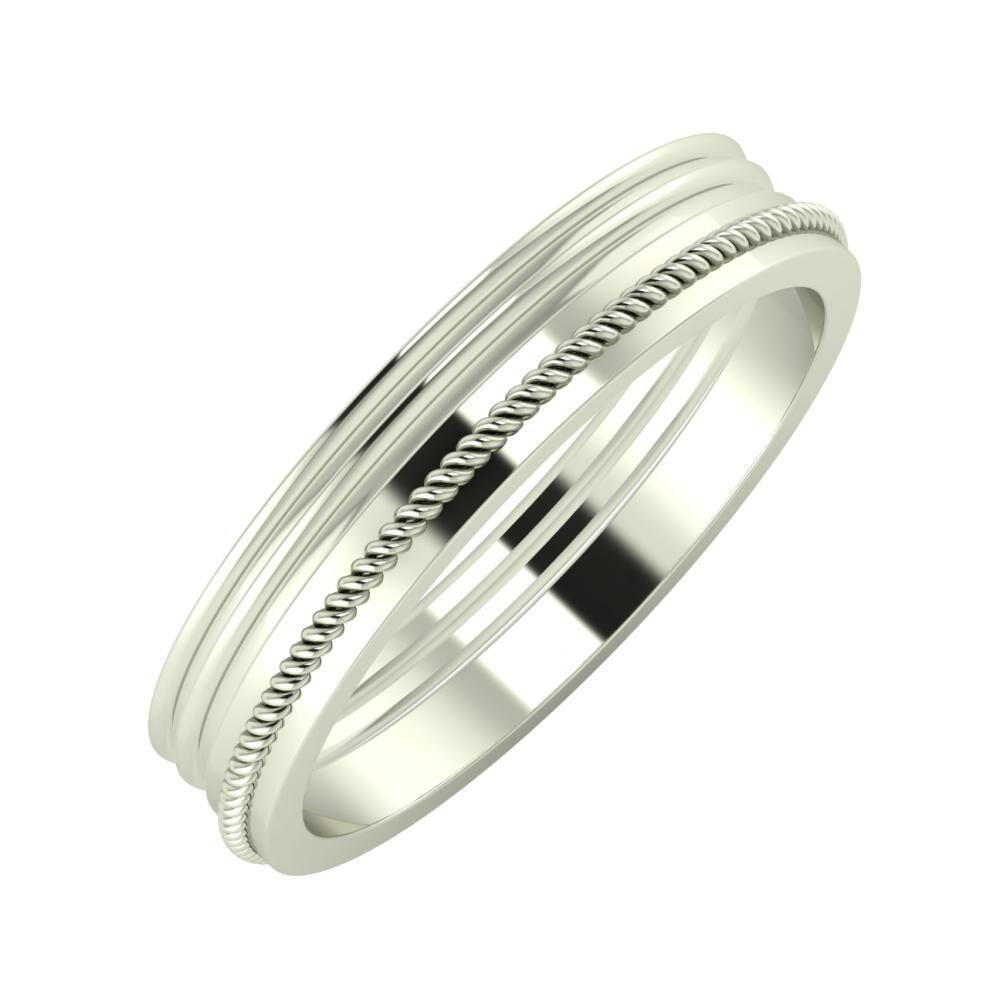 Agrippína - Agrippína - Afrodité 4mm 14 karátos fehér arany karikagyűrű