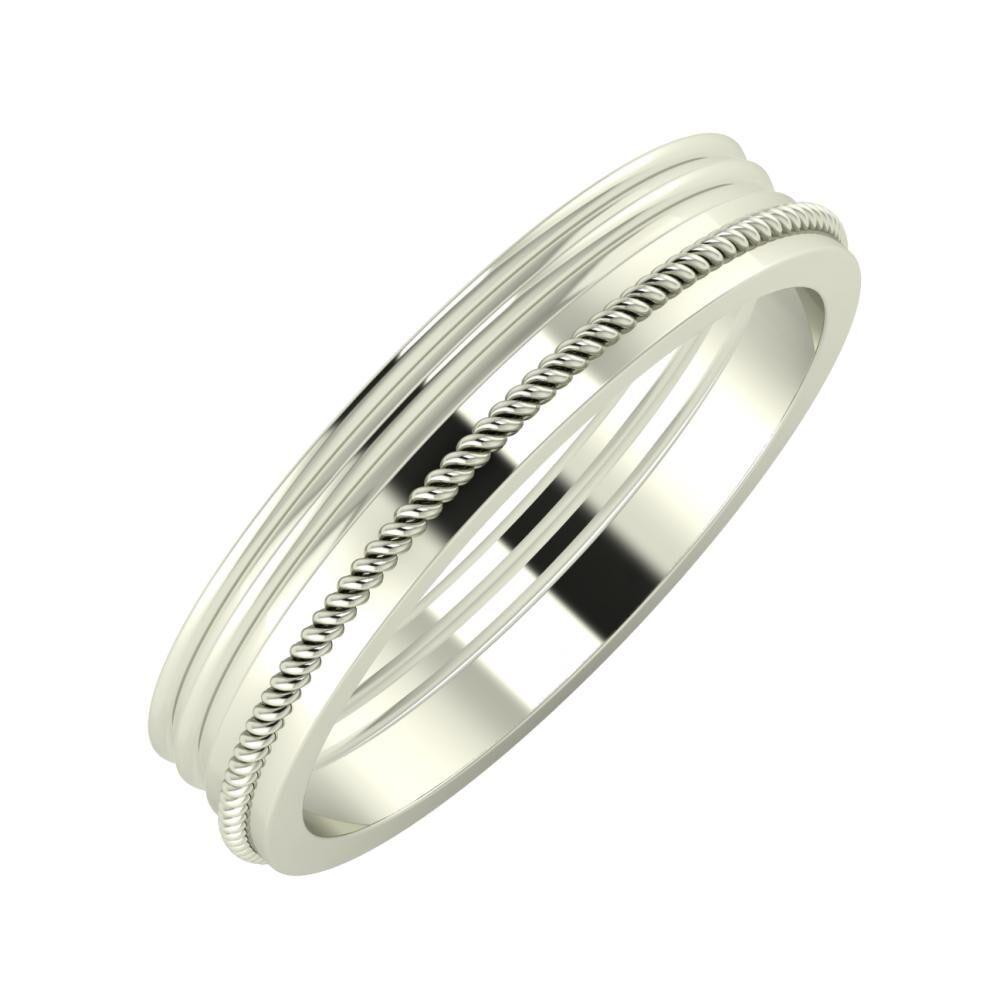 Agrippína - Agrippína - Afrodité 4mm 18 karátos fehér arany karikagyűrű