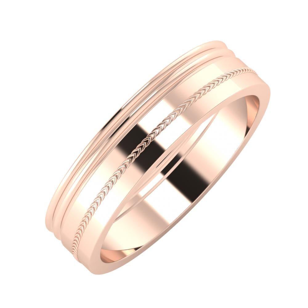 Agrippína - Agrippína - Agáta 5mm 18 karátos rosé arany karikagyűrű