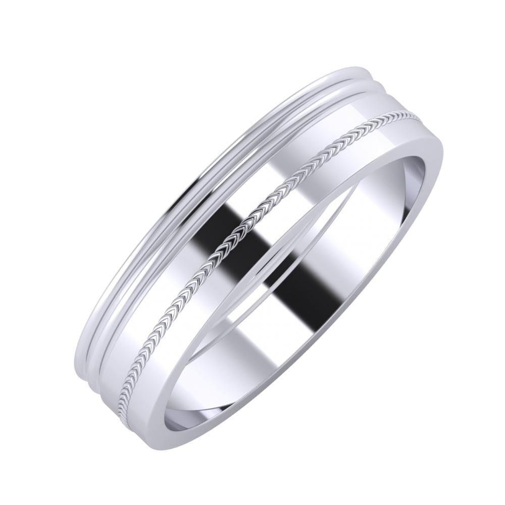 Agrippína - Agrippína - Agáta 5mm platina karikagyűrű