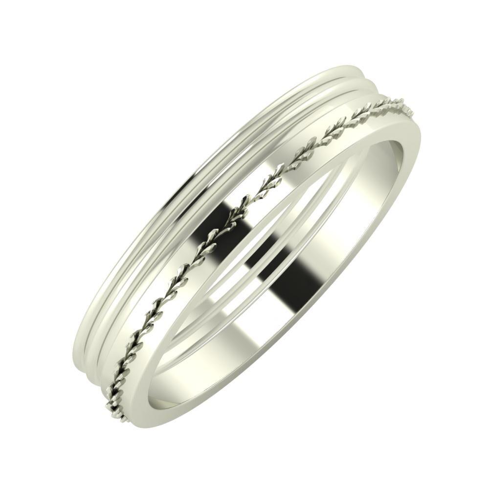Agrippína - Agrippína - Aglent 4mm 18 karátos fehér arany karikagyűrű