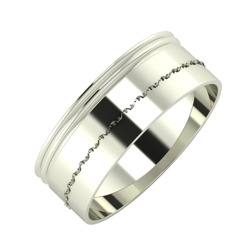 Agrippína - Agrippína - Agnabella 7mm 14 karátos fehér arany karikagyűrű