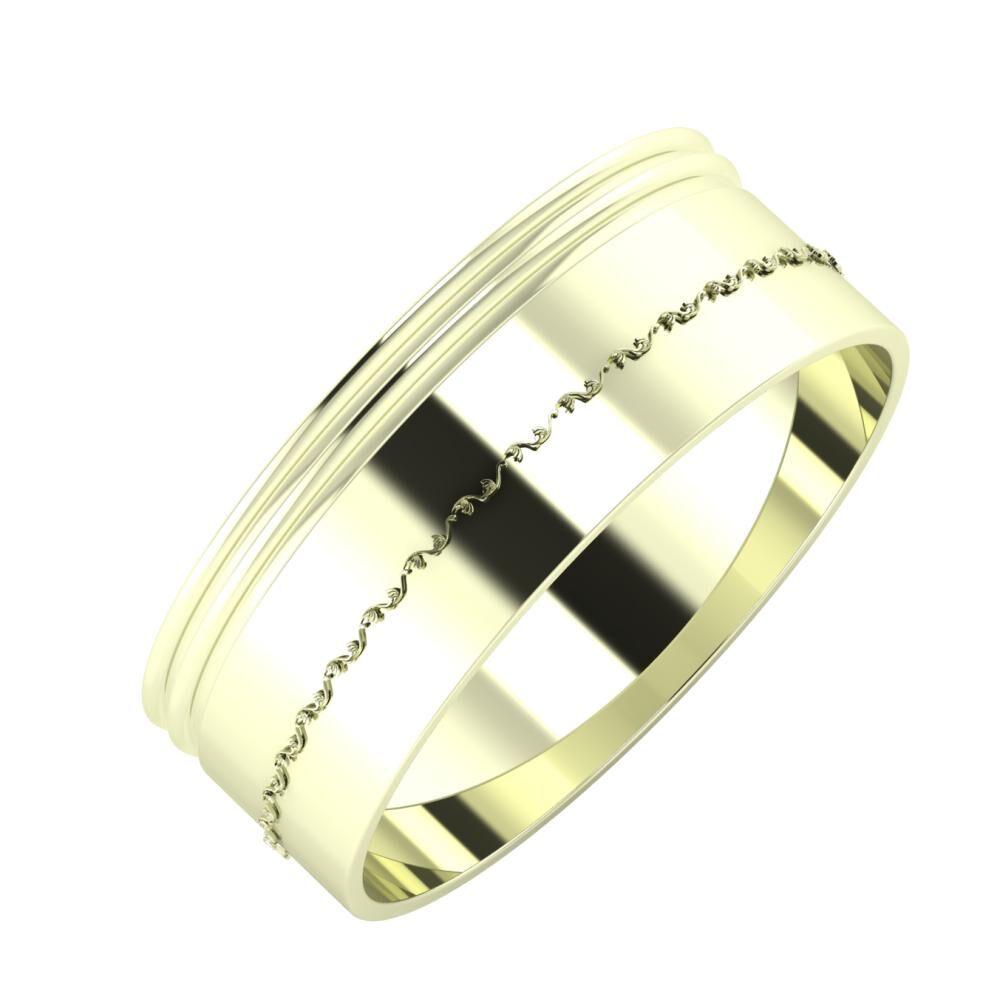 Agrippína - Agrippína - Agnabella 7mm 22 karátos fehér arany karikagyűrű