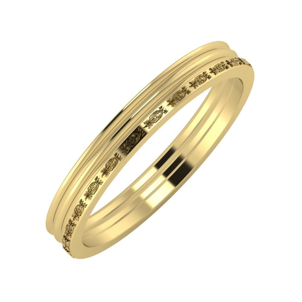 Agrippína - Agrippína - Agnella 3mm 14 karátos sárga arany karikagyűrű