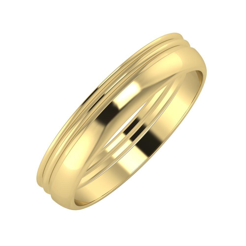 Agrippína - Agrippína - Ágosta 4mm 14 karátos sárga arany karikagyűrű