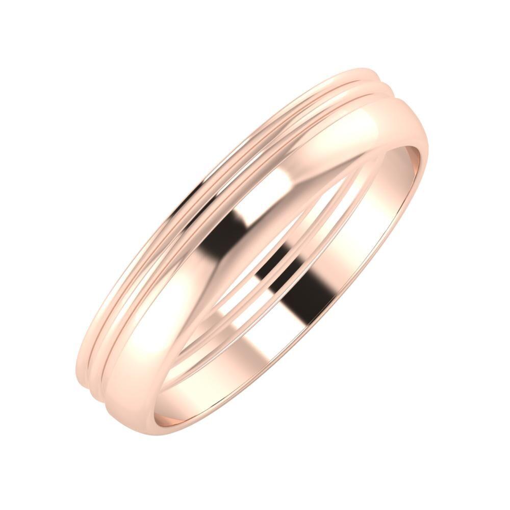 Agrippína - Agrippína - Ágosta 4mm 18 karátos rosé arany karikagyűrű