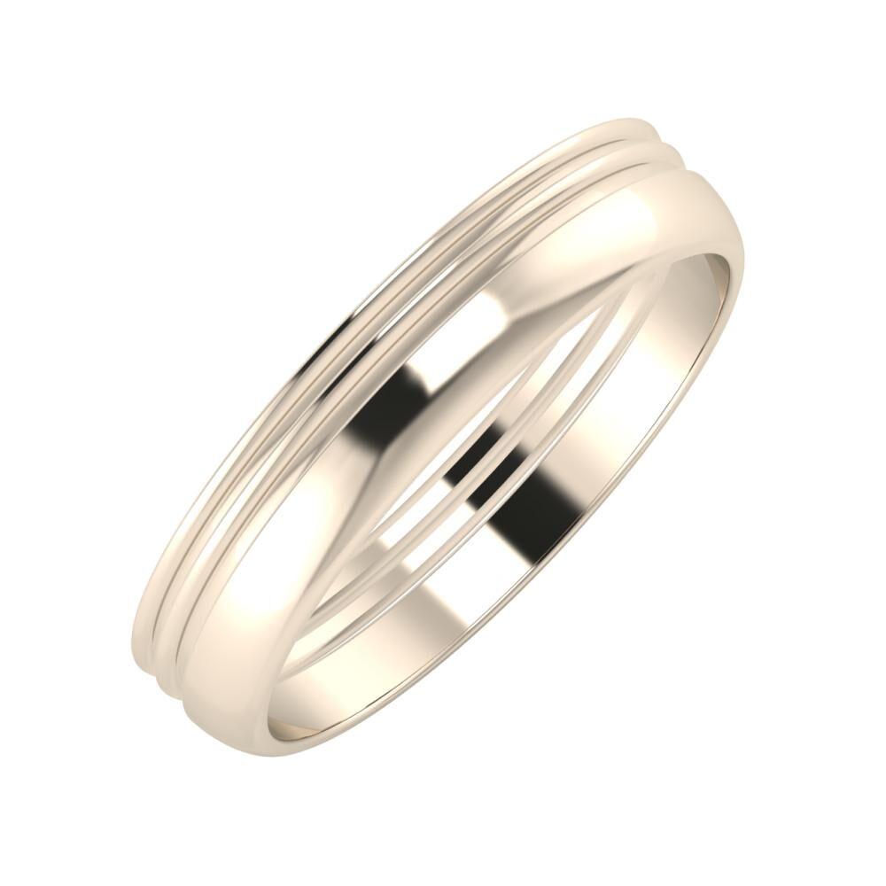 Agrippína - Agrippína - Ágosta 4mm 22 karátos rosé arany karikagyűrű