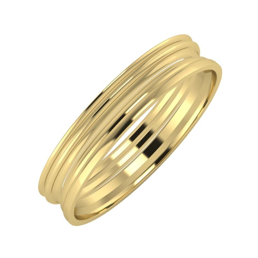 Agrippína - Agrippína - Aida 4mm 14 karátos sárga arany karikagyűrű