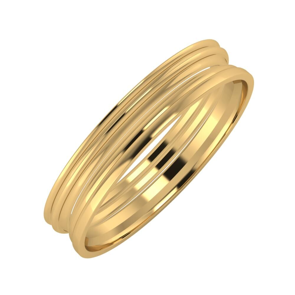 Agrippína - Agrippína - Aida 4mm 18 karátos sárga arany karikagyűrű