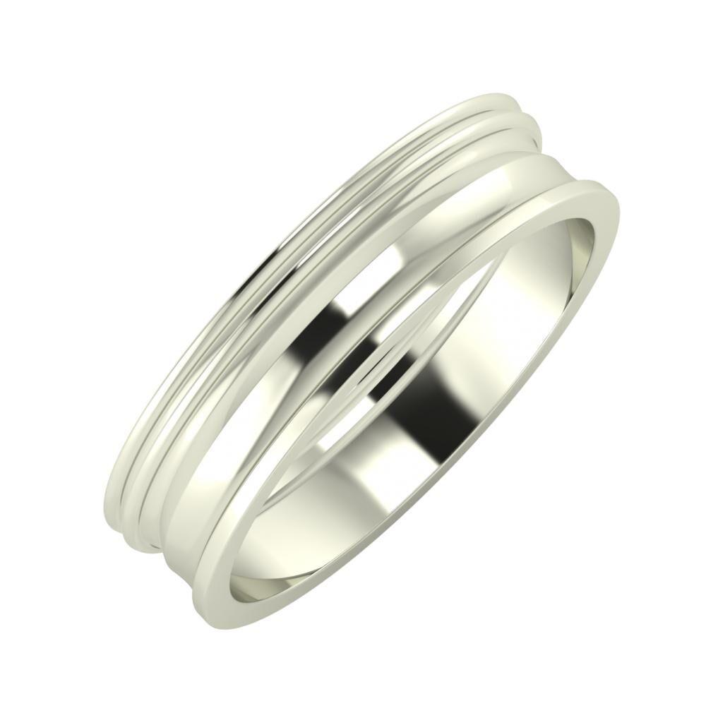 Agrippína - Agrippína - Ainó 5mm 18 karátos fehér arany karikagyűrű
