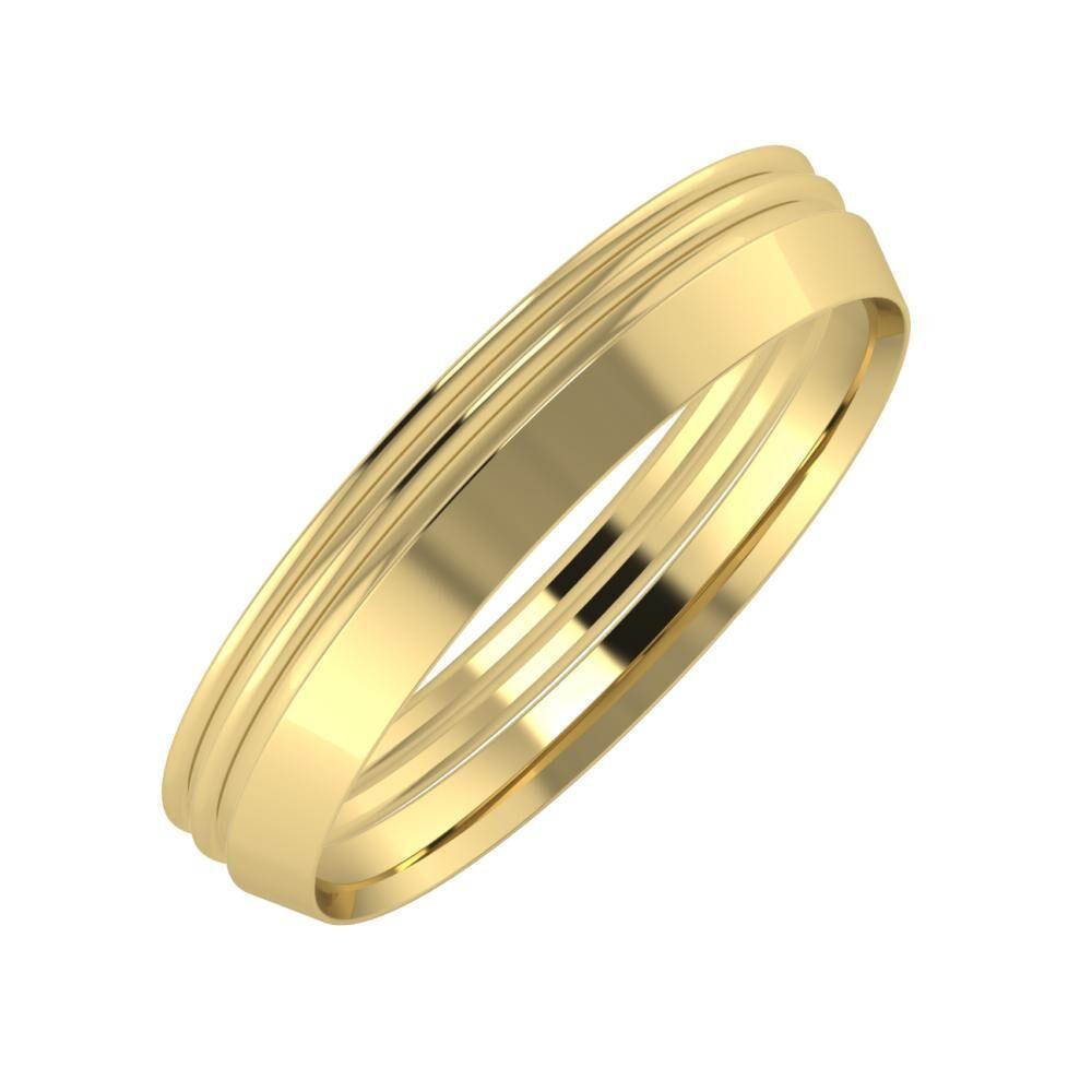 Agrippína - Agrippína - Aisah 4mm 14 karátos sárga arany karikagyűrű