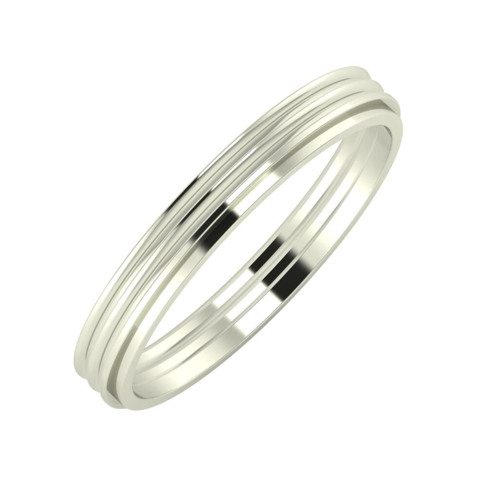 Agrippína - Agrippína - Ájlin 3mm 18 karátos fehér arany karikagyűrű