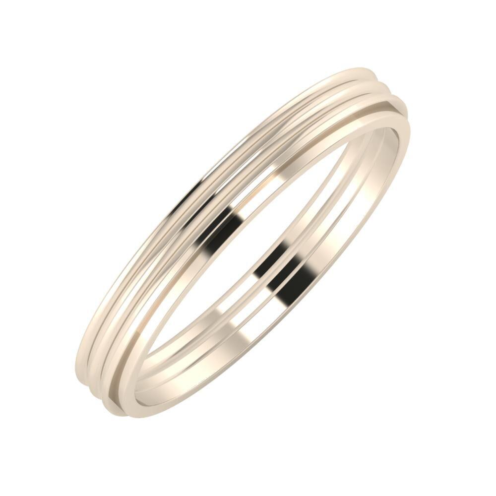 Agrippína - Agrippína - Ájlin 3mm 22 karátos rosé arany karikagyűrű