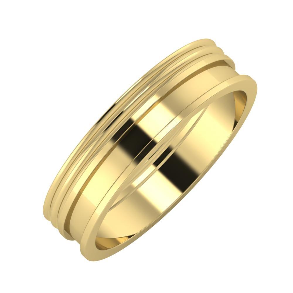Agrippína - Agrippína - Ajnácska 5mm 14 karátos sárga arany karikagyűrű