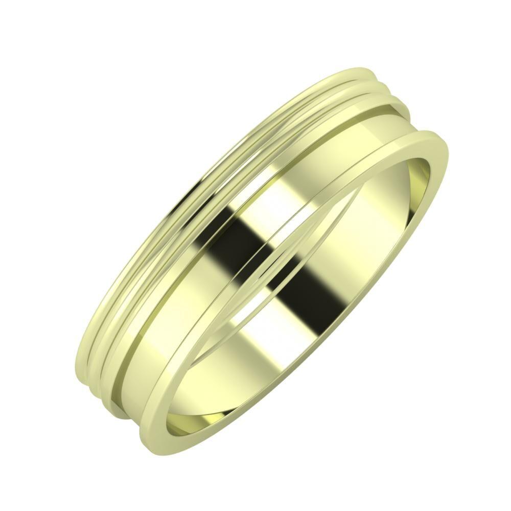 Agrippína - Agrippína - Ajnácska 5mm 14 karátos zöld arany karikagyűrű