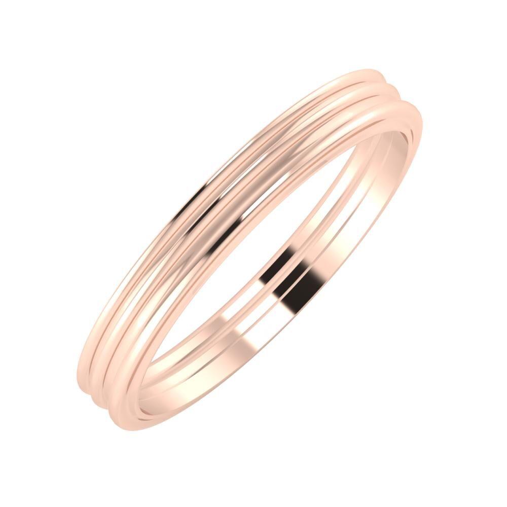 Agrippína - Agrippína - Ajra 3mm 14 karátos rosé arany karikagyűrű