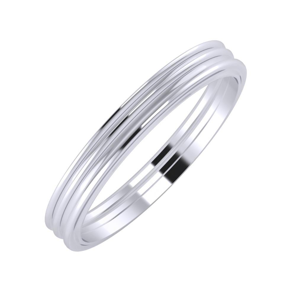 Agrippína - Agrippína - Ajra 3mm platina karikagyűrű