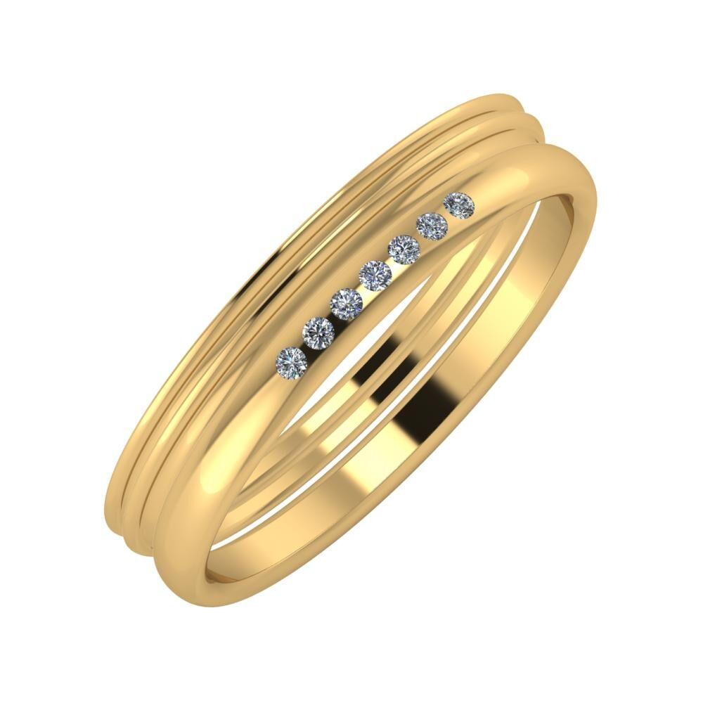 Agrippína - Agrippína - Albertina 4mm 18 karátos sárga arany karikagyűrű