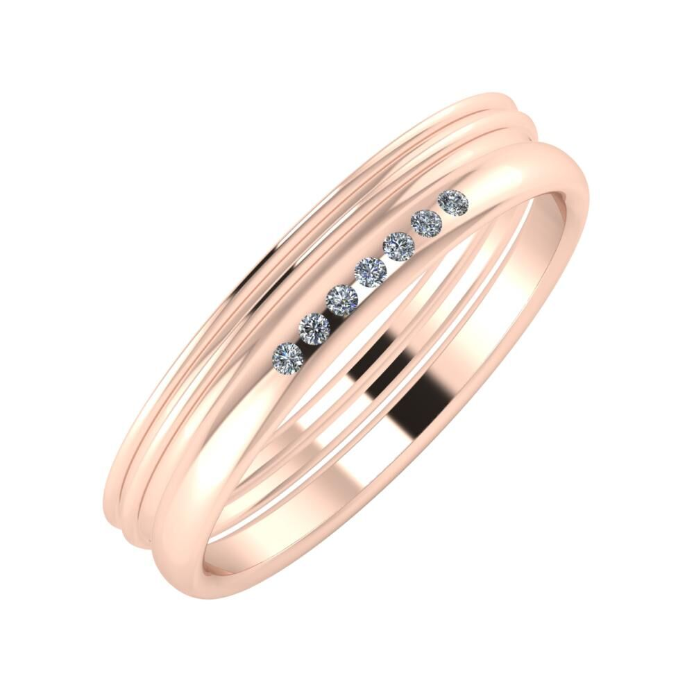 Agrippína - Agrippína - Albertina 4mm 14 karátos rosé arany karikagyűrű