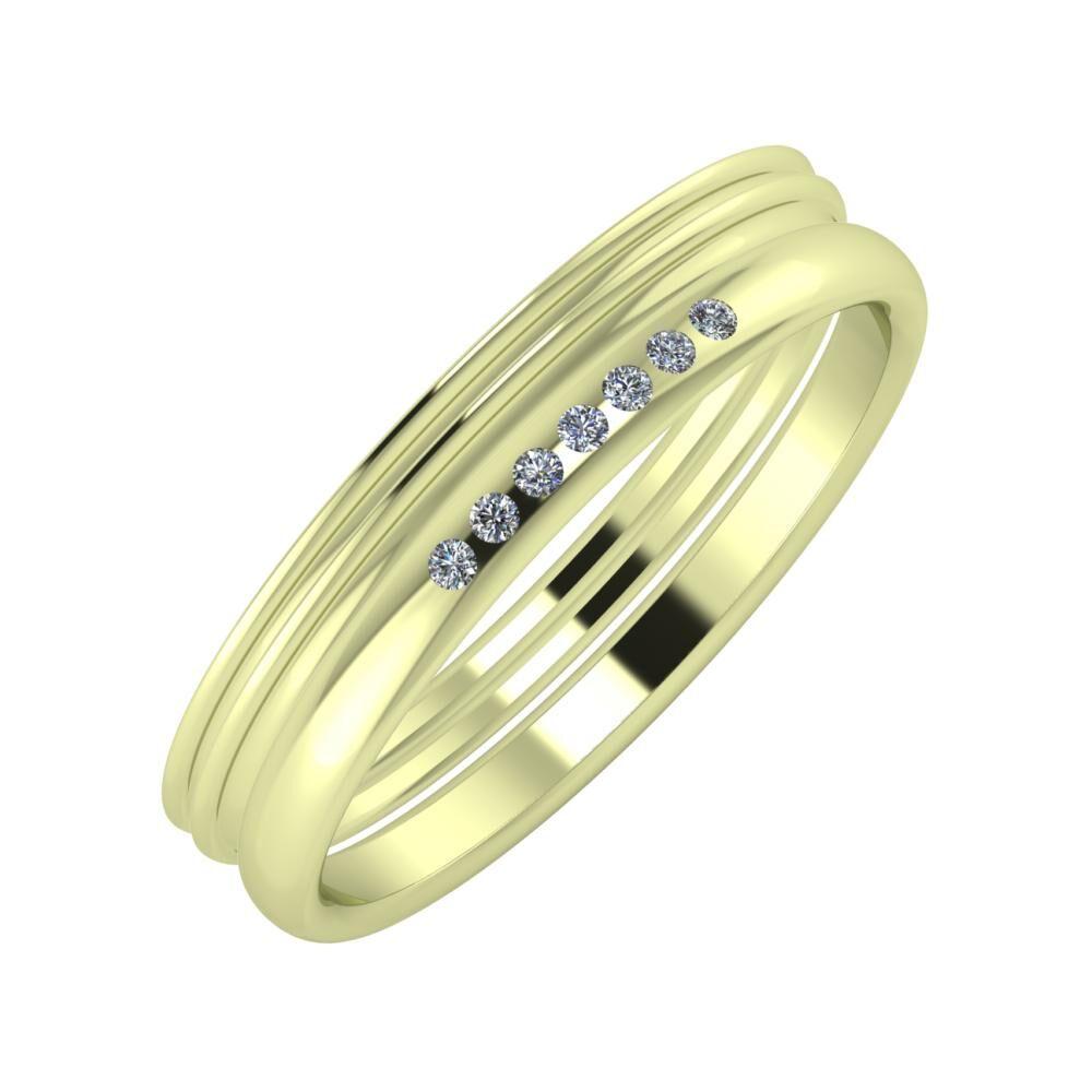 Agrippína - Agrippína - Albertina 4mm 14 karátos zöld arany karikagyűrű