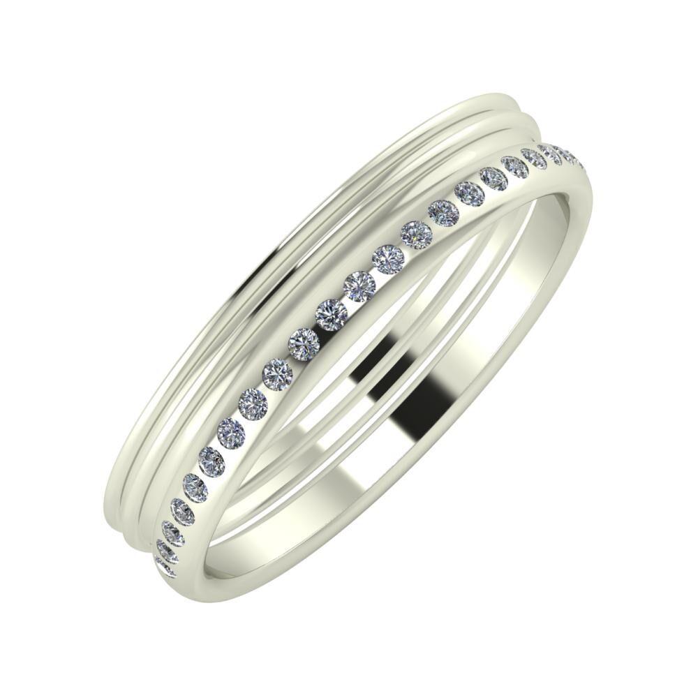 Agrippína - Agrippína - Aldea 4mm 14 karátos fehér arany karikagyűrű
