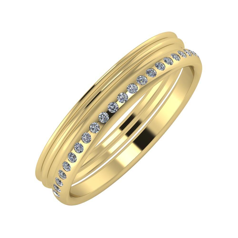 Agrippína - Agrippína - Aldea 4mm 14 karátos sárga arany karikagyűrű