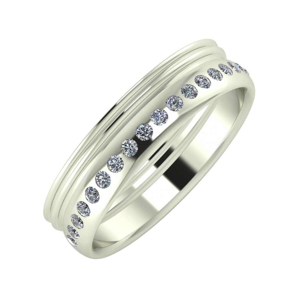 Agrippína - Agrippína - Aldea 5mm 14 karátos fehér arany karikagyűrű