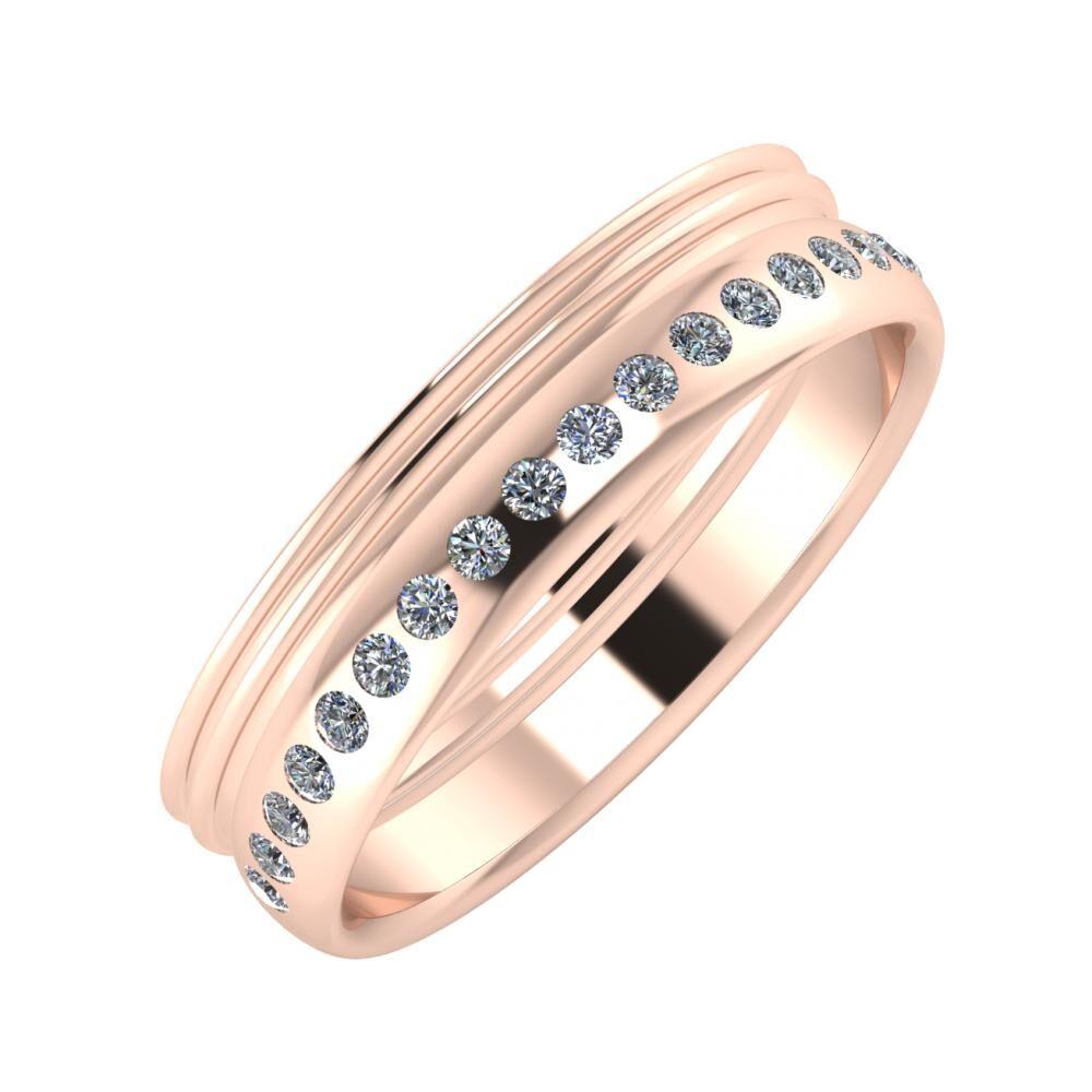Agrippína - Agrippína - Aldea 5mm 18 karátos rosé arany karikagyűrű