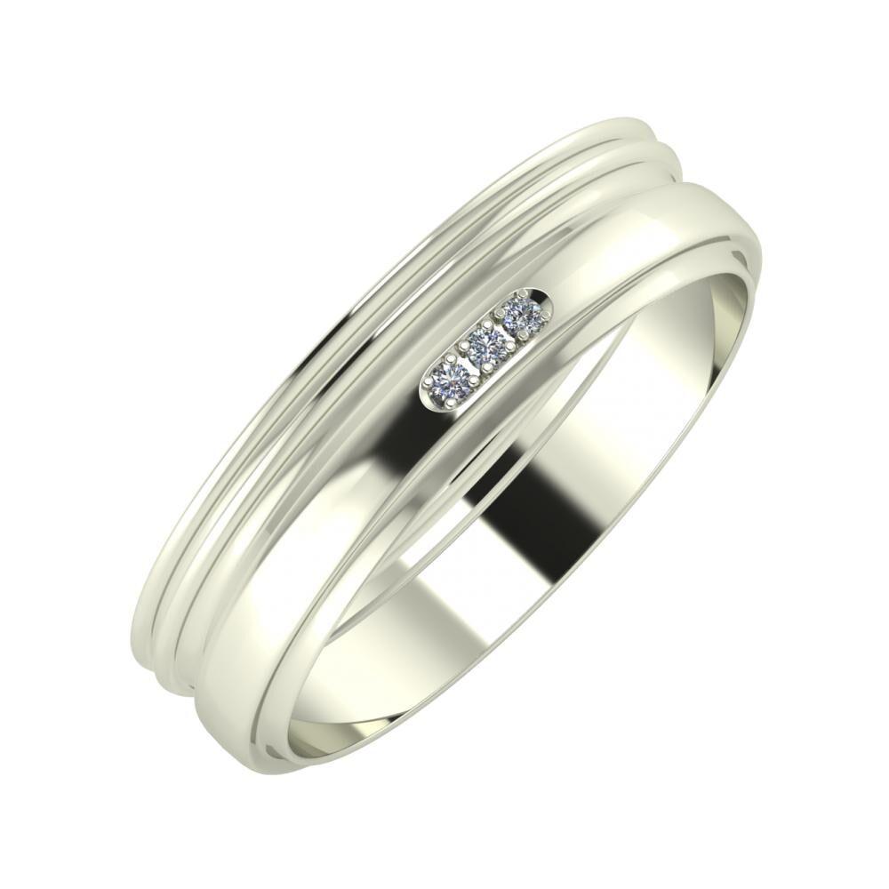 Agrippína - Agrippína - Aleszja 5mm 18 karátos fehér arany karikagyűrű