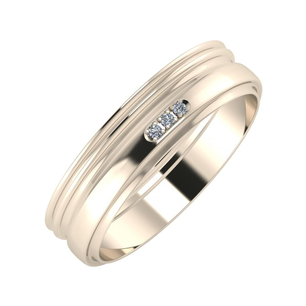 Agrippína - Agrippína - Aleszja 5mm 22 karátos rosé arany karikagyűrű