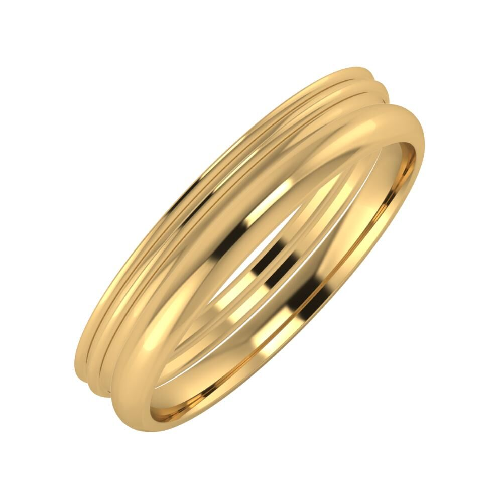 Agrippína - Agrippína - Alett 4mm 22 karátos sárga arany karikagyűrű
