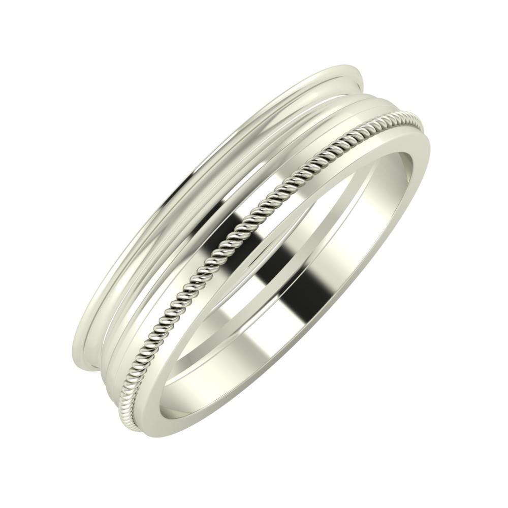 Agrippína - Aida - Afrodité 5mm 14 karátos fehér arany karikagyűrű