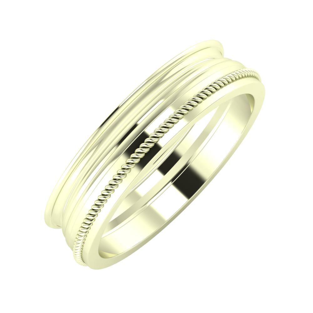 Agrippína - Aida - Afrodité 5mm 22 karátos fehér arany karikagyűrű