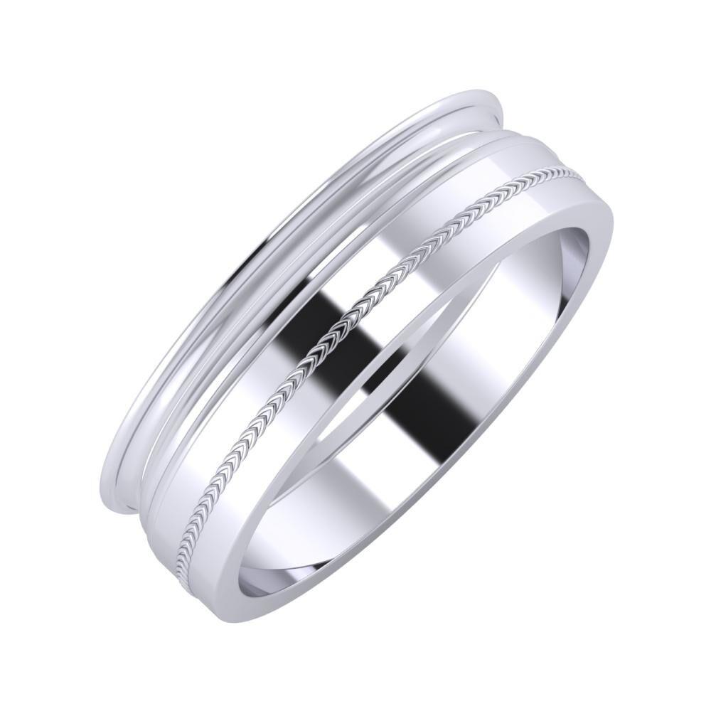 Agrippína - Aida - Agáta 6mm platina karikagyűrű
