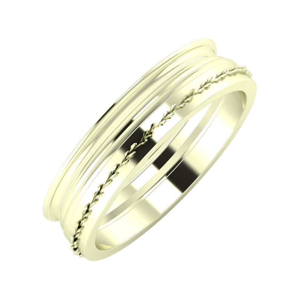 Agrippína - Aida - Aglent 5mm 22 karátos fehér arany karikagyűrű