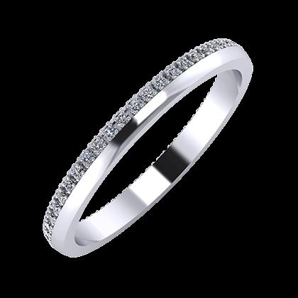 Alojzia 2mm platina karikagyűrű