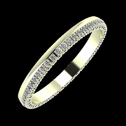 Aloma 2mm 22 karátos fehér arany karikagyűrű