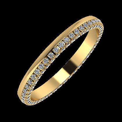 Aloma 2mm 18 karátos sárga arany karikagyűrű