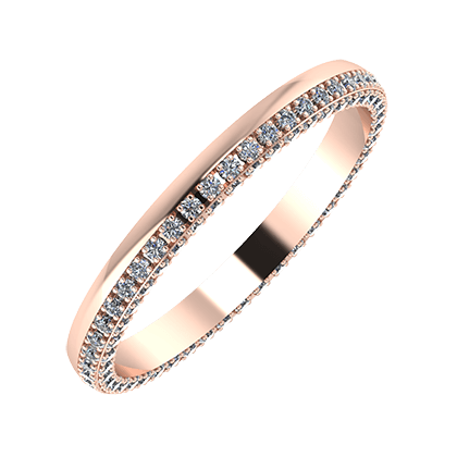 Aloma 2mm 14 karátos rosé arany karikagyűrű