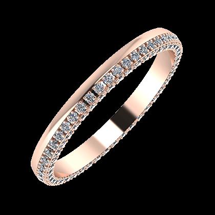 Aloma 2mm 18 karátos rosé arany karikagyűrű