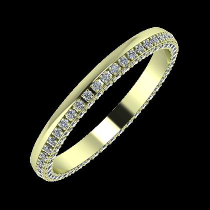 Aloma 2mm 14 karátos zöld arany karikagyűrű